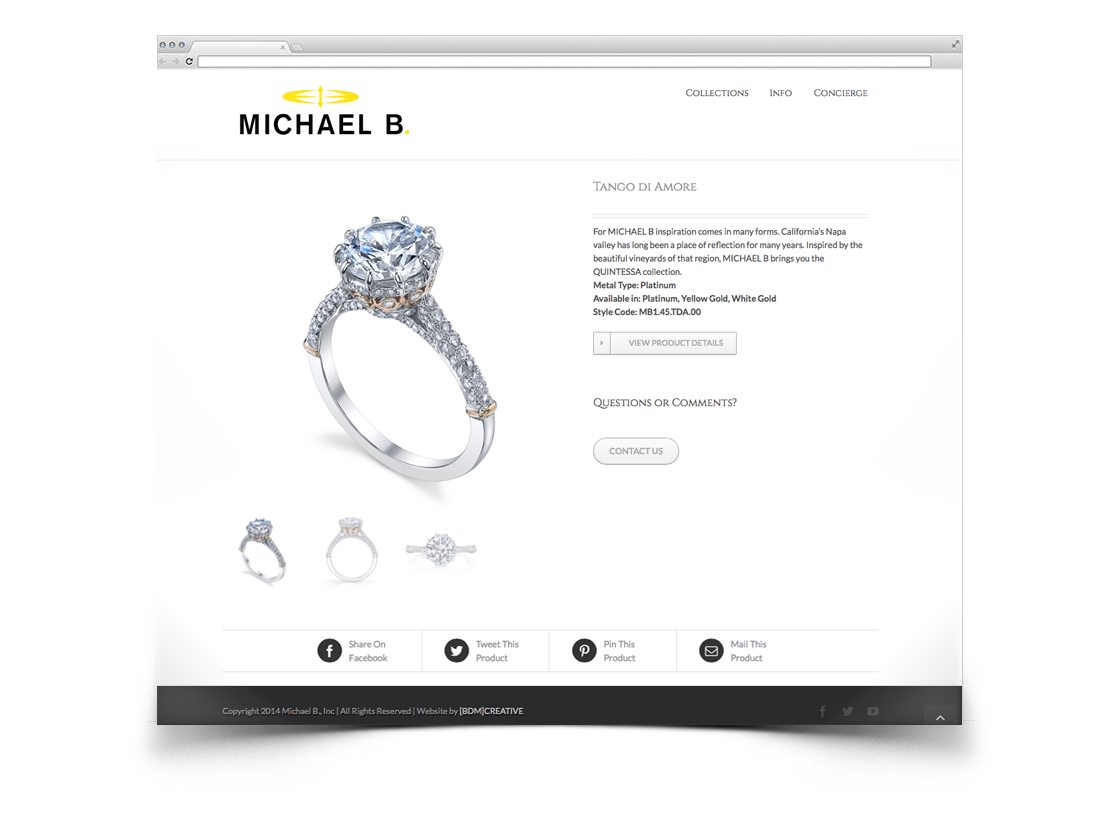 Michael b jewelry bdm creative for Michael b jewelry death